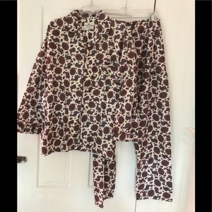 Manor House Paisley Flannel Pajama Set MEN L